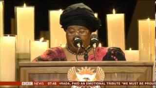 Video Nelson Mandela State Funeral Tribute by President of Malawi Joyce Banda download MP3, 3GP, MP4, WEBM, AVI, FLV Juli 2018