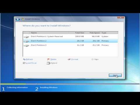 Instalare Windows 7 (tutorial video HD)