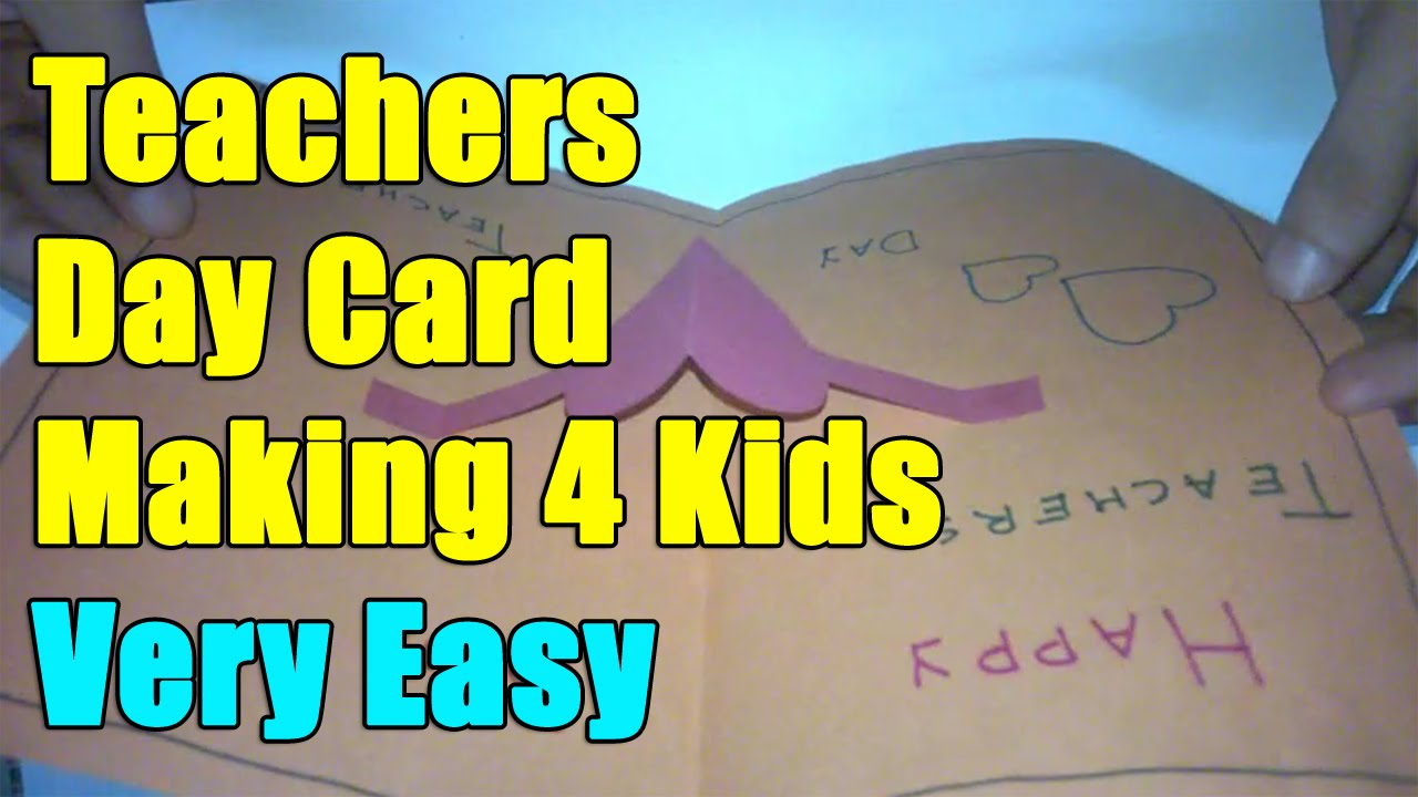 Teachers Day Card Making Ideas Part - 36: Teachers Day Card | Pop Up Card Ideas | Teacher Day - 5th September -  YouTube