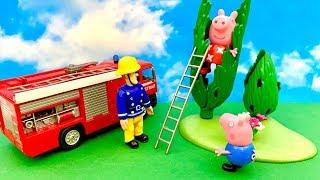 Świnka Peppa i Strażak Sam  Dinozaurowe drzewo  Bajka dla dzieci PO POLSKU
