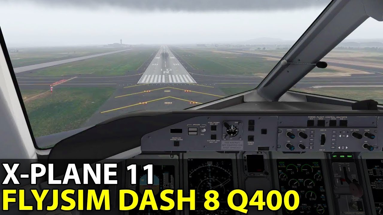 X-plane 11 FlyJSim Dash 8 Q400 XP11 Compatibility Update with JACK