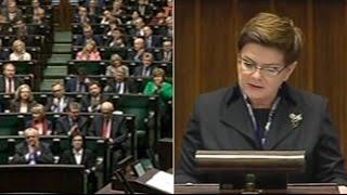 Beata Szydło: cele rządu to obniżenie wieku emerytalnego