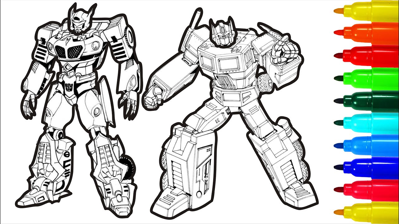 Transformers Coloring Pages For Children Youtube