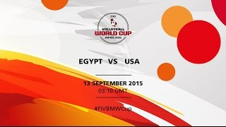 Egypt v USA - FIVB Volleyball Men's World Cup Japan 2015