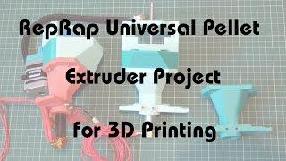Richrap Universal Pellet Extruder Project 3d Printing Youtube