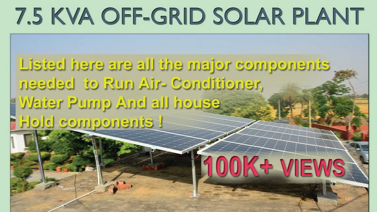 How Many Solar Panels Needed To Run 2 Ac And Full Home Load Diy Solar Power Plant Youtube