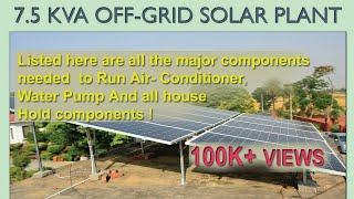 Video How Many Solar Panels needed to Run 2 AC and full home load : DIY SOLAR POWER PLANT download MP3, 3GP, MP4, WEBM, AVI, FLV Agustus 2018