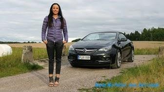 Kaaran Mia Pelttari koeajaa Opel Cascadan