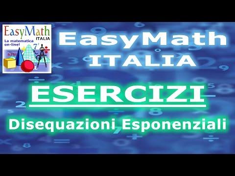 Disequazioni Esponenziali NON Elementari - ESERCIZI (2014.09.17-18.12) (a) from YouTube · Duration:  5 minutes 46 seconds