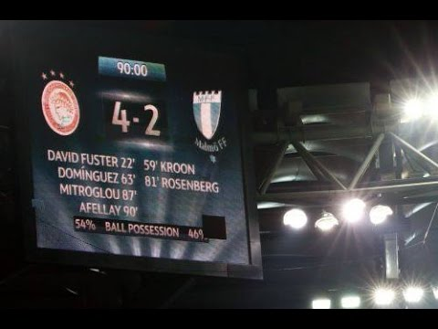 Olympiakos vs Malmo 4-2.. The dream is not over!!