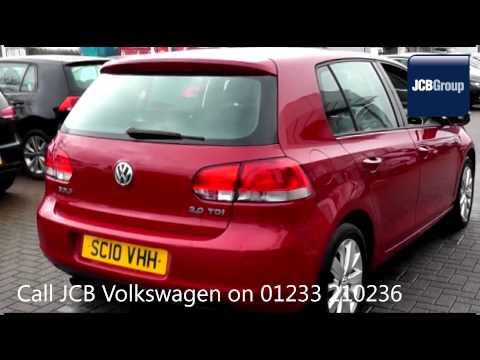 2010 Volkswagen Golf SE TDI DSG 2l Passion Red Metallic Metallic SC10VHH for sale at JCB VW Ashford