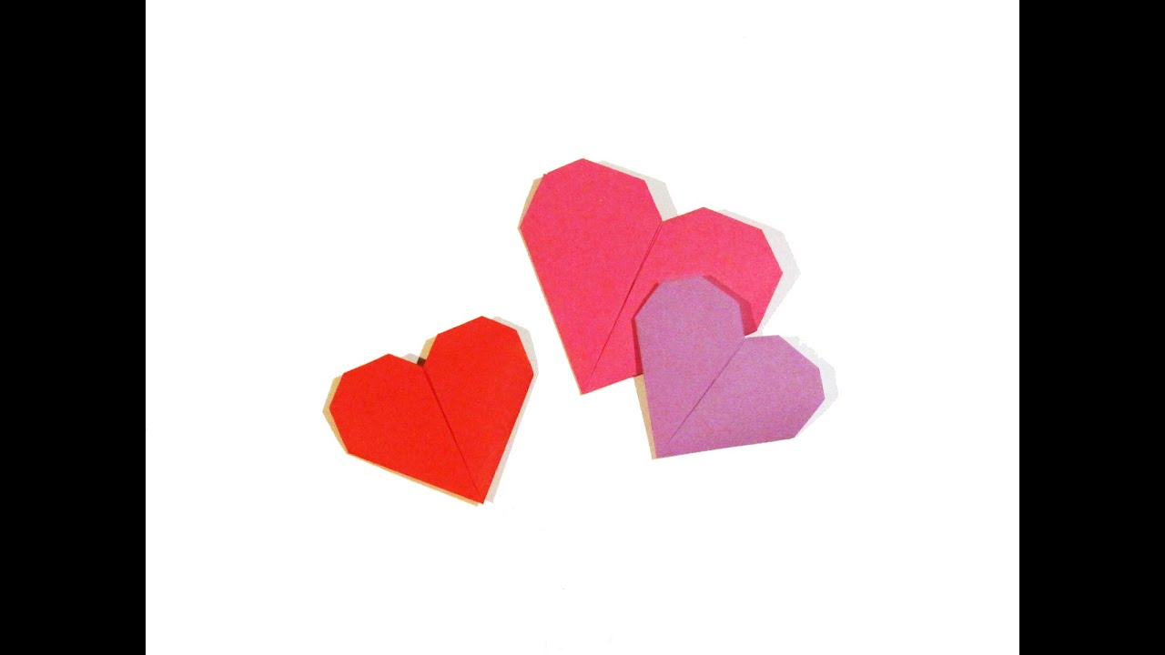how to make valentine origami