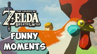 Zelda Breath of the Wild Funny Moments: Cucco Olympics - Chocolate Milk Gamer
