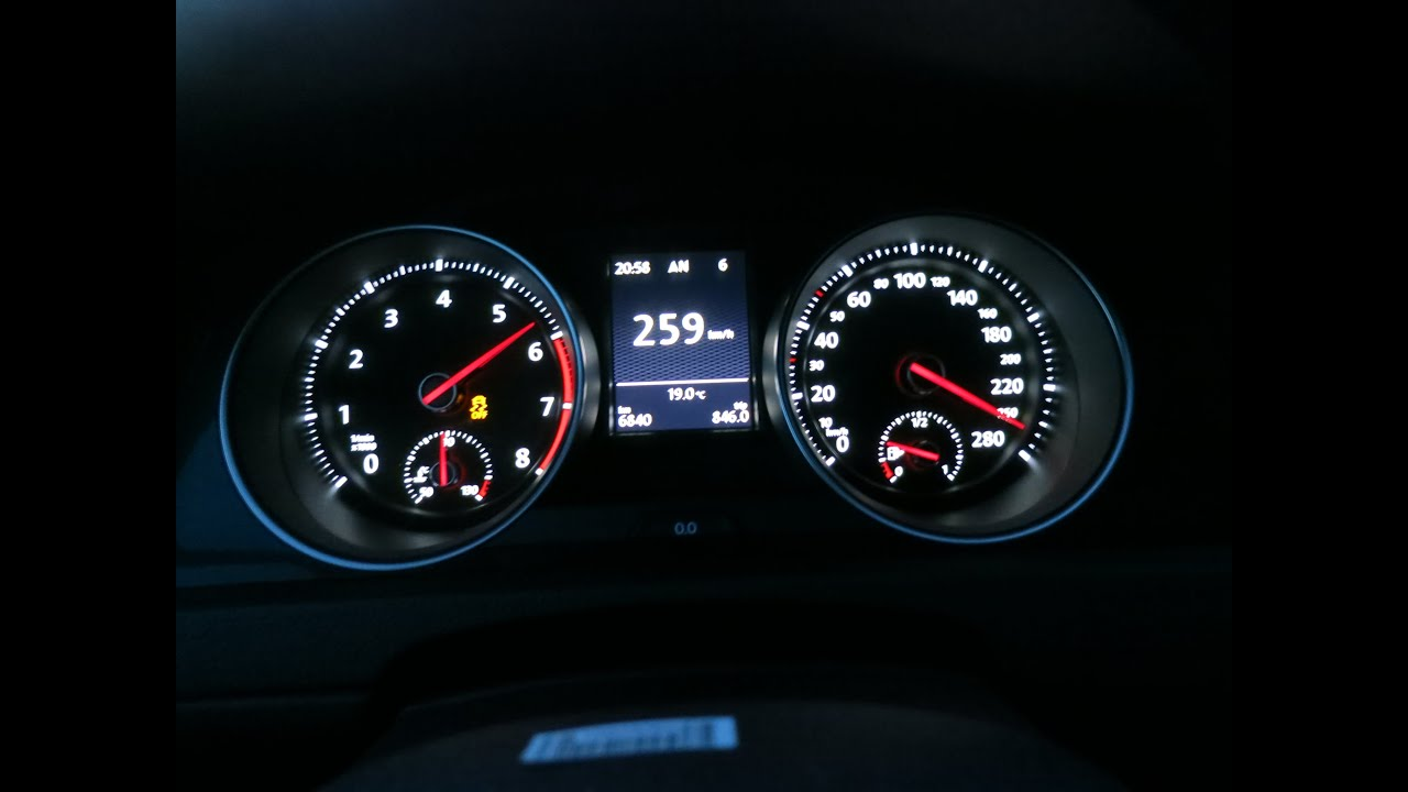 2015 VW Golf GTI MK7 0-158 mph (0-254 km/h) Top Speed - YouTube