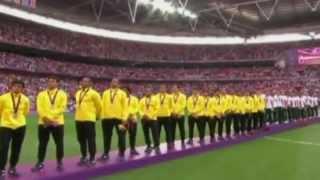 Himno nacional mexicano - Londres 2012 - campeones fútbol