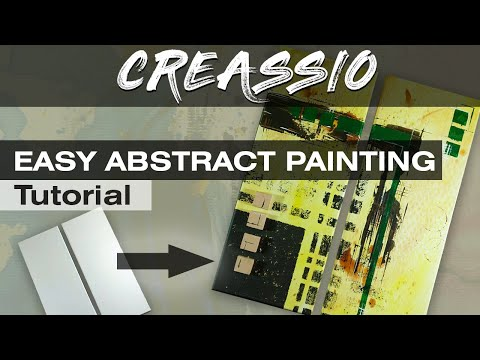 -EASY Acrylic Painting Tutorial For beginners | How to paint on Canvas | ABSTRACT Art | Video #43
