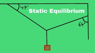 Static Equilibrium - Coṁmon Practice Problems Explained - Tension Force - Hanging Mass -