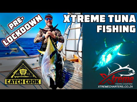 Xtreme tuna fishing, pre-lockdown meat stock up - catch cook - Hout Bay, South Africa