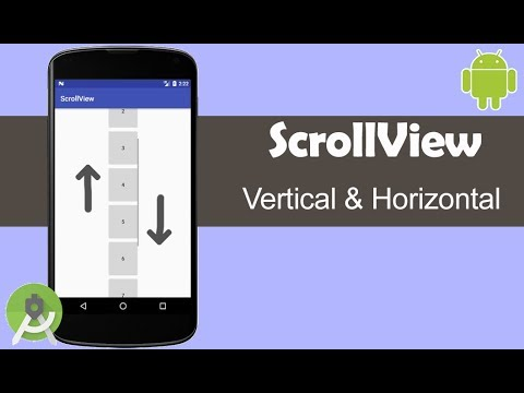 Horizontal and Vertical ScrollView - Android Studio Tutorial