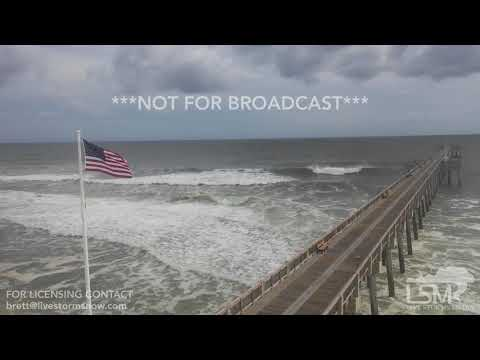 10-9-2018 Panama City Beach, Fl Drone shots of huge cranes at risk of collapse Hurricane Michael
