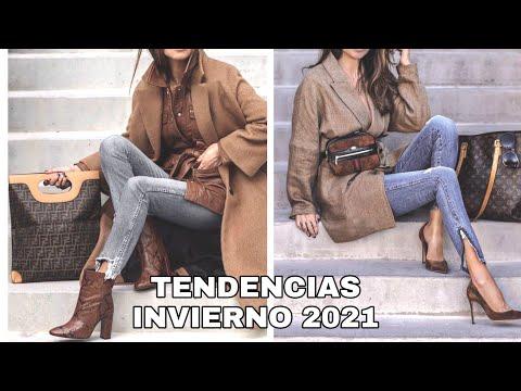 MODA INVIERNO 2021 MUJER/ TENDENCIAS OUTFITS Y COLORES DE MODA INVIERNO/ FASHION WINTER 2021 - Видео онлайн