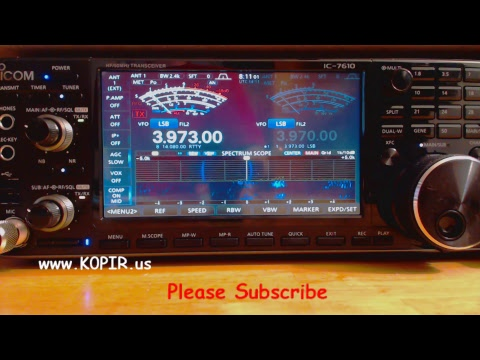 Ham Radio Breakfast Club Net Streamed With Icom 7610
