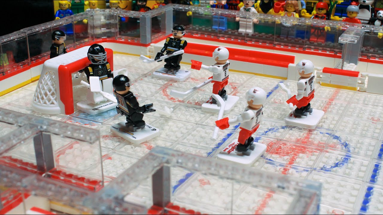 LEGO Stop Motion   Good Old Hockey Game   YouTube
