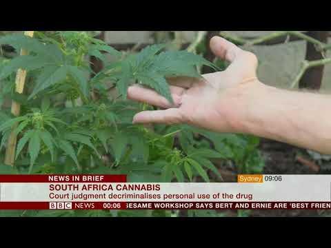 Cannabis made legal (South Africa) - BBC News - 19th September 2018