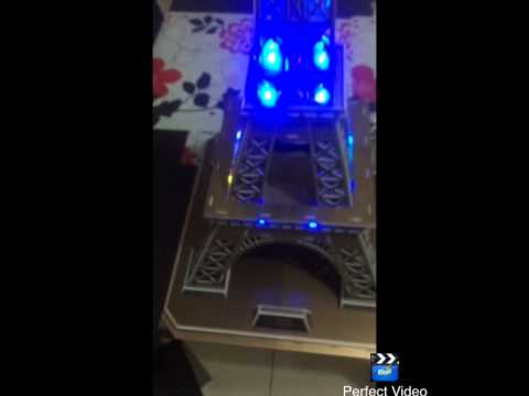 3dpuzzle led lighting eiffel tower youtube. Black Bedroom Furniture Sets. Home Design Ideas