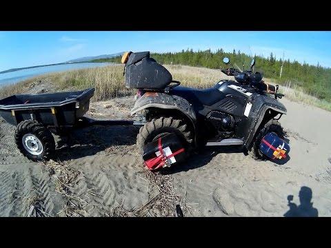Проба на плавучесть СF moto Х6 и прицепа