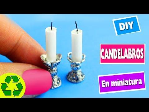 DIY Candelabros y velas en miniatura