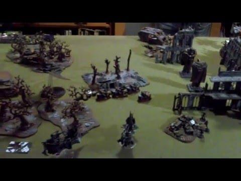 Warhammer 40k Battle Report - Dark Eldar vs DIY Space Marines - The Tabling