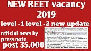 Reet new vacancy 2019 latest news