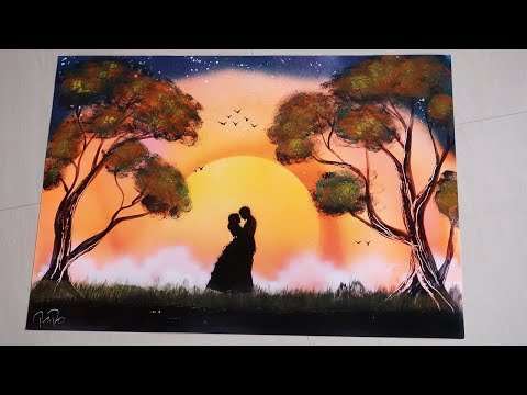 SPRAY PAINTING – THE SUNSET COUPLE