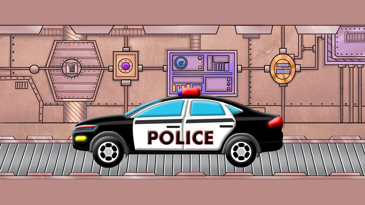 toy factory police car kids videos games for children youtube