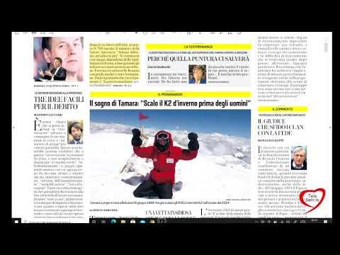 I giornali in edicola - la rassegna stampa 23/12/2020