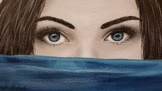How to Paint Eyes LIVE Acrylic Painting Tutorial