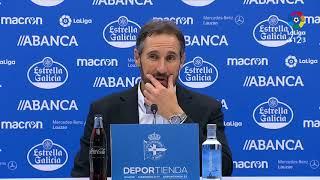 Rueda de prensa de Vicente Moreno tras el RC Deportivo vs RCD Mallorca (2-0)