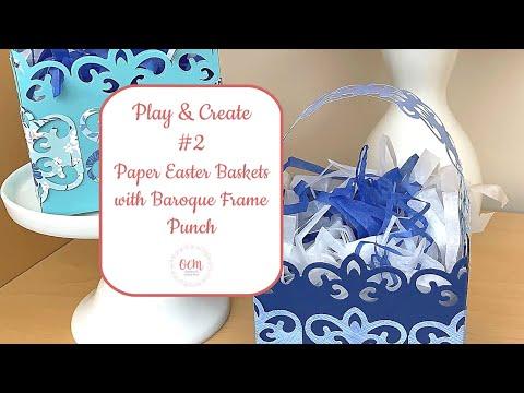 scrapbooking Creative Memories Baroque Frame  Punch card making
