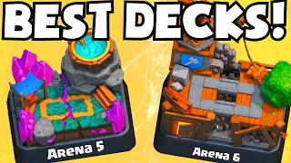Clash Royale BEST ARENA 5-6 DECKS UNDEFEATED | Which Cards To Upgrade / Best Attack Strategy Tips