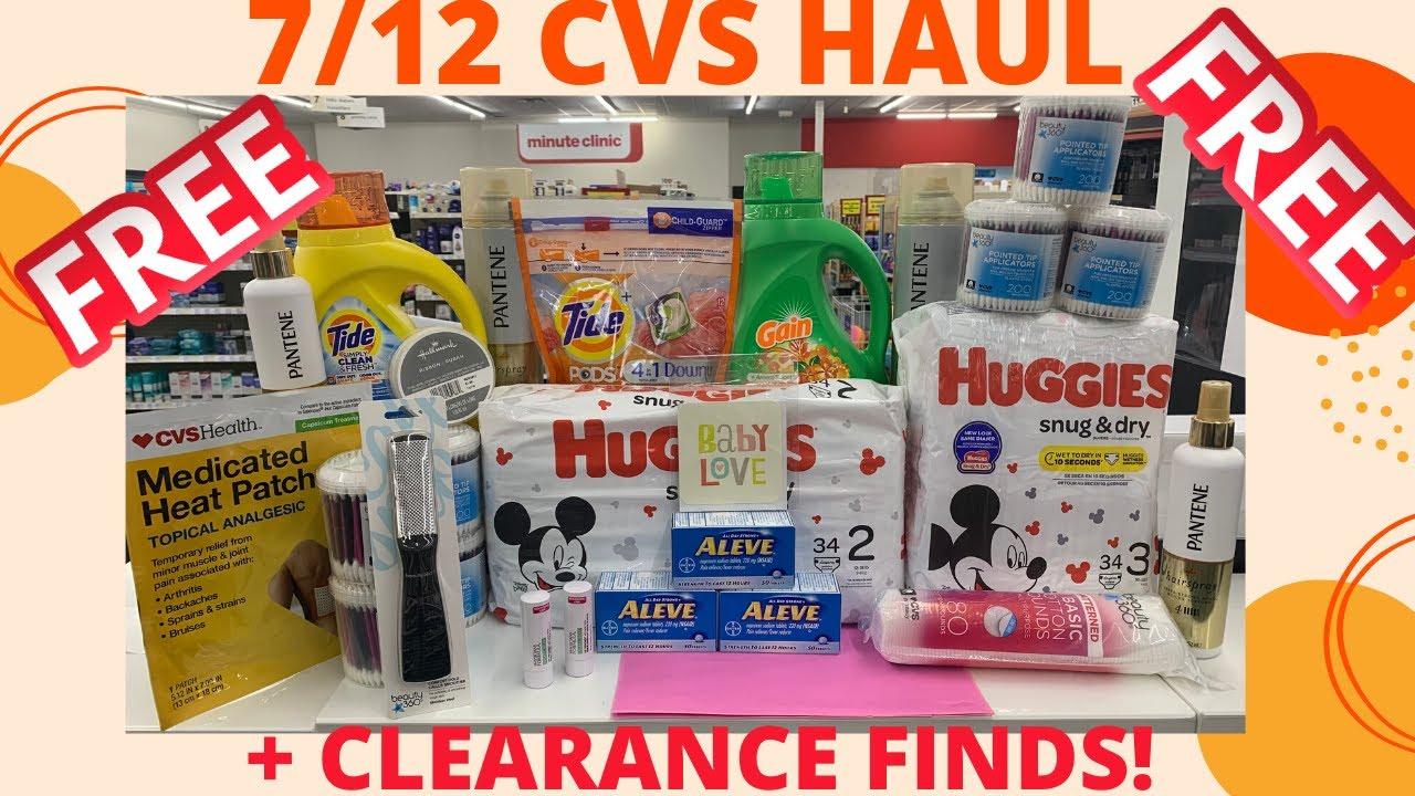 👉Paid $0 @ CVS Couponing This Week 7/12 🔥 CVS Haul 7/12 + CVS Deals 7/12+ BIG TIDE/GAIN/HUGGIES MM!!