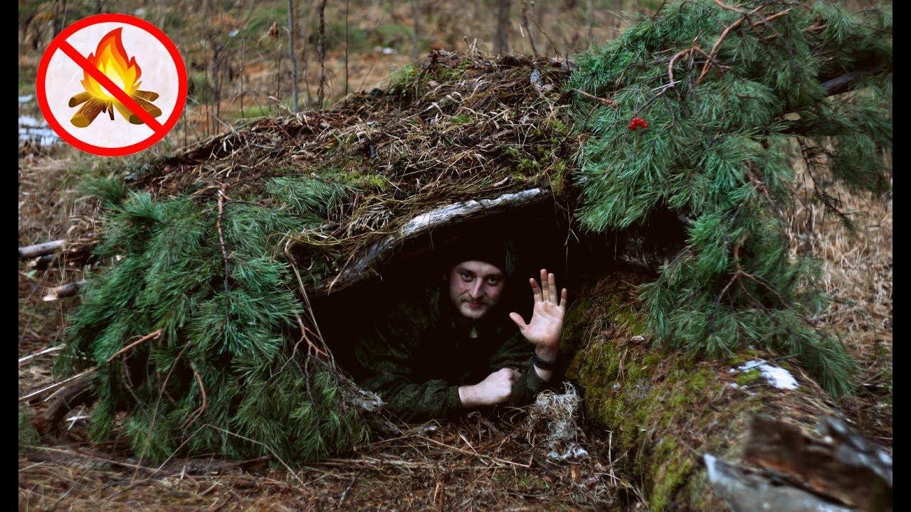 Ночёвка в лесу без снаряжения. Расширенная версия.