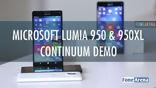 Microsoft Lumia 950 & 950 XL with Display Dock Continuum Demo