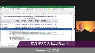 SVUESD School Board // 1-7-21