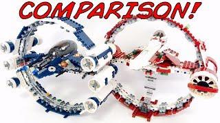 LEGO Star Wars Jedi Starfighter W/ Hyperdrive Ring Comparison! 2007 VS. 2017! 7661 VS. 75191!