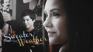 Nina Dobrev & Logan Lerman; sweater weather