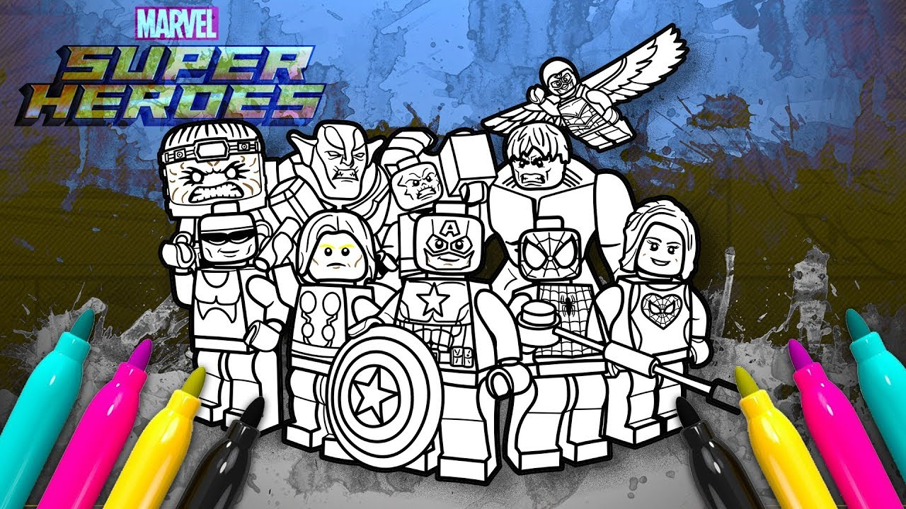 LEGO MARVEL Superheroes 2 Coloring Book | New Avengers Super Hero ...