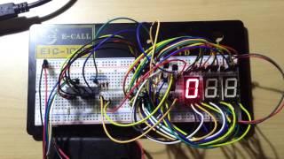 7セグメントLEDをAVRを使ってダイナミック点灯させています。 点灯間隔...