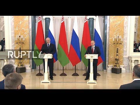 LIVE: Putin and Lukashenko make statement in St Petersburg - ORIGINAL