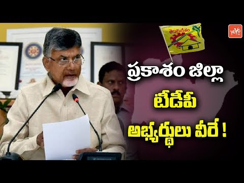 Prakasam District TDP MLA Candidates List Finalized By Chand